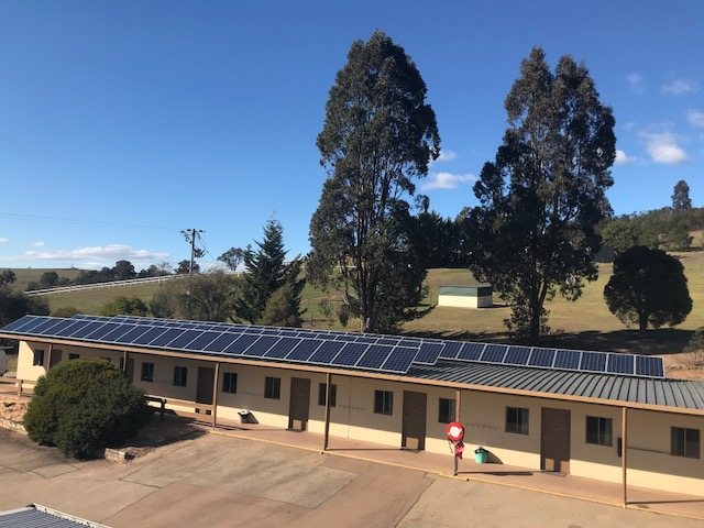 Commercial Solar System above Holiday Resort rooms